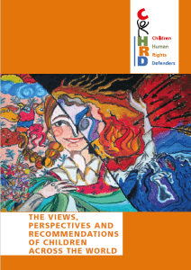 The views, perspectives and recommendations of children across the world