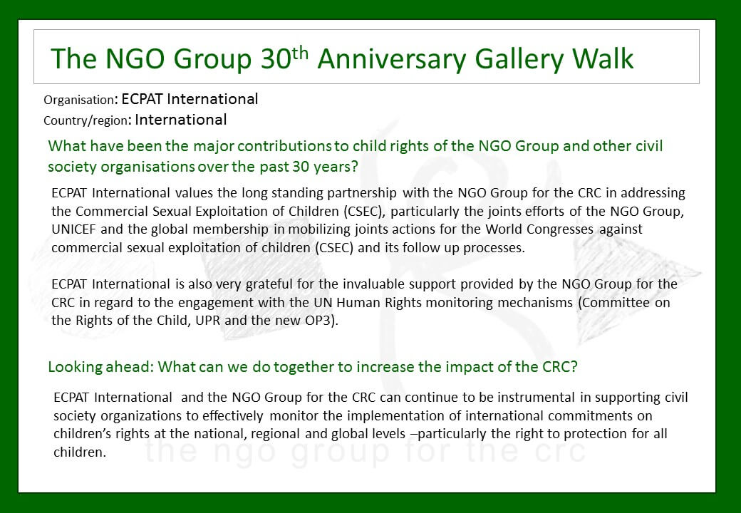 30th Anniversary of the UN Convention on the Rights of the