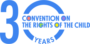 30th anniversary logo which our Children's Advisory Team worked on in collaboration with the CRC committee