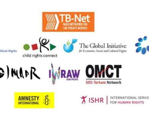 Civil society urging the Treaty Bodies & OHCHR to schedule State reviews no later than 2021