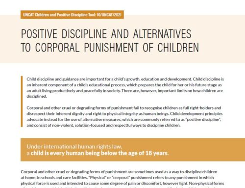 "New Tool: ""POSITIVE DISCIPLINE"", AN ALTERNATIVE TO CORPORAL PUNISHMENT"