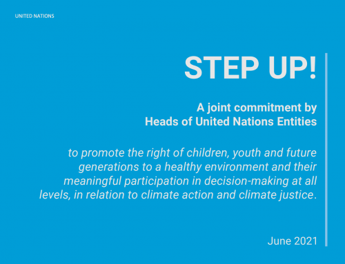 UN Heads of Entities commit to step up efforts to promote the right to a healthy environment of children and their participation in climate justice decision-making at all levels